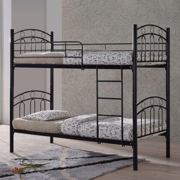 Метално двуетажно легло Декер90х200