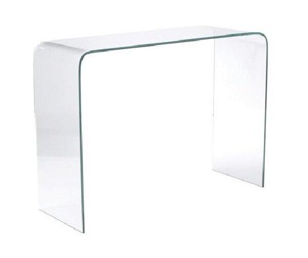 Стилна стъклена конзола Гласер