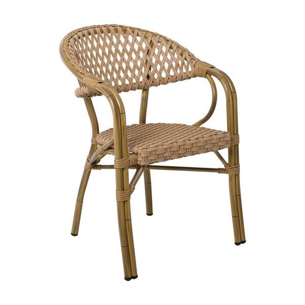 Ратанов стол за градина Вегера в два цвята