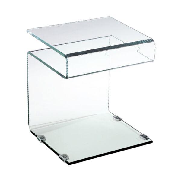 Помощна маса от стъкло Гласер