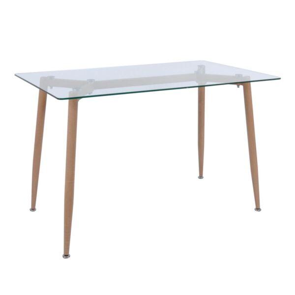 Трапезна маса от стъкло Олсън