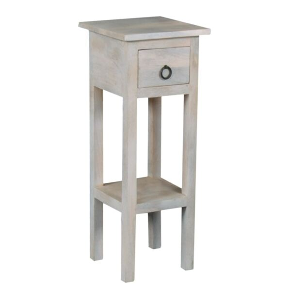 Шкафче с чекмедже Мейсън масив в бяло