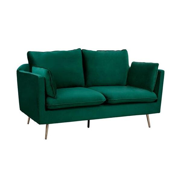 Двуместен диван Карен сив и зелен