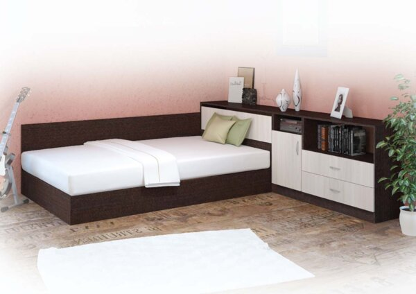 Спален комплект Комфорт с шкаф 120Х190