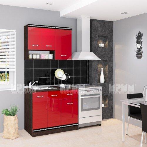 Кухня Сити 243 - 180 см - червен гланц