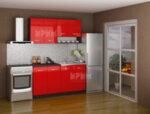 Готова кухня Сити 719 - 160 см - червен гланц