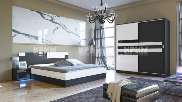 Спален комплект Сити 7022 160х200