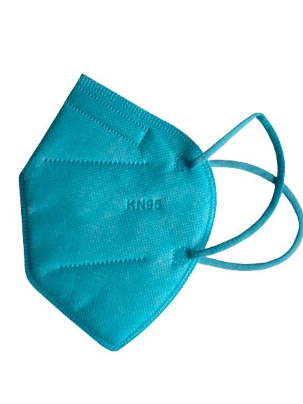 Цветна предпазна маска KN95 (FFP2), за многократна употреба против мръсен въздух, вируси и бактерии (светло син)