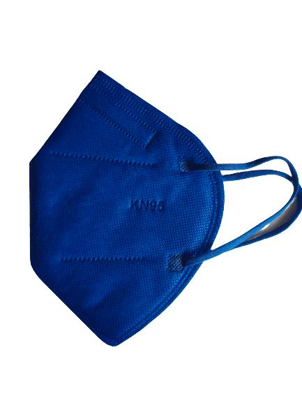 Цветна предпазна маска KN95 (FFP2), за многократна употреба против мръсен въздух, вируси и бактерии (син)