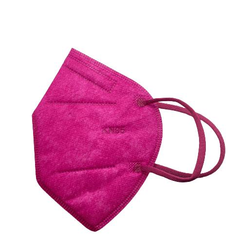 Цветна предпазна маска KN95 (FFP2), за многократна употреба против мръсен въздух, вируси и бактерии (цикламен)