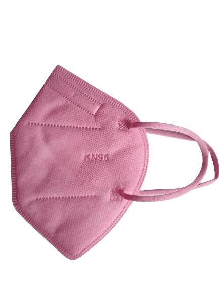 Цветна предпазна маска KN95 (FFP2), за многократна употреба против мръсен въздух, вируси и бактерии (светло розов)