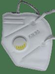 Предпазна маска KN95 - FFP2 с клапа за многократна употреба против мръсен въздух, вируси и бактерии, Бяла