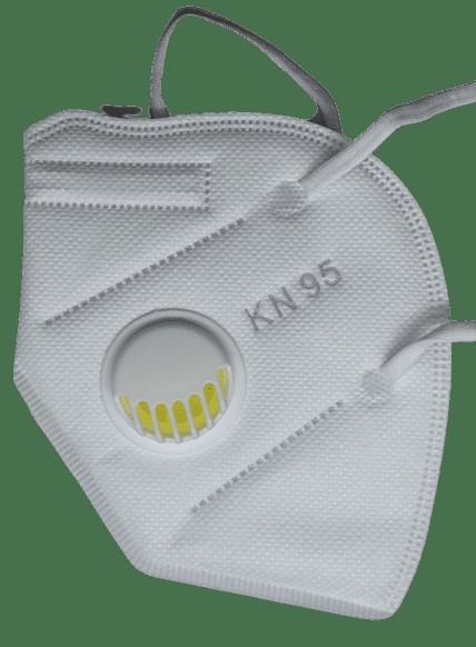 Предпазна маска KN95 (FFP2), за многократна употреба с клапан против мръсен въздух, вируси и бактерии