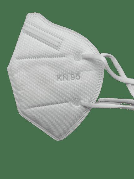 Предпазна маска KN95 (FFP2), за многократна употреба против мръсен въздух, вируси и бактерии (бяла)