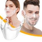 Шлем за уста и нос, прозрачен против запотяване, 1 брой