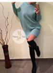 Рокля-пуловер с ''прилеп'' ръкав