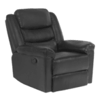 Кожен фотьойл с релакс механизъм TALIA - черен