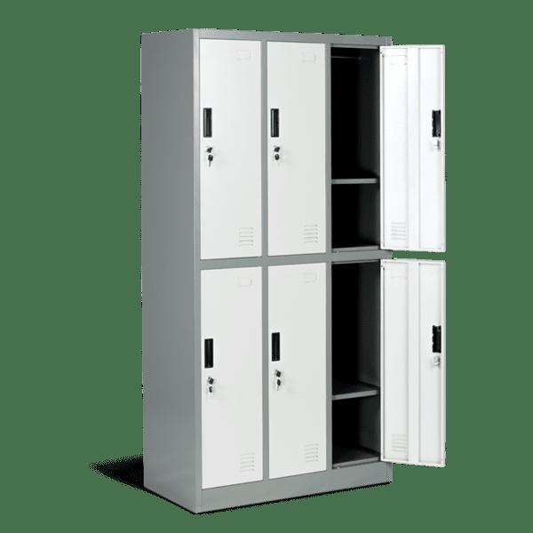 Шкаф метален с 6  отделения