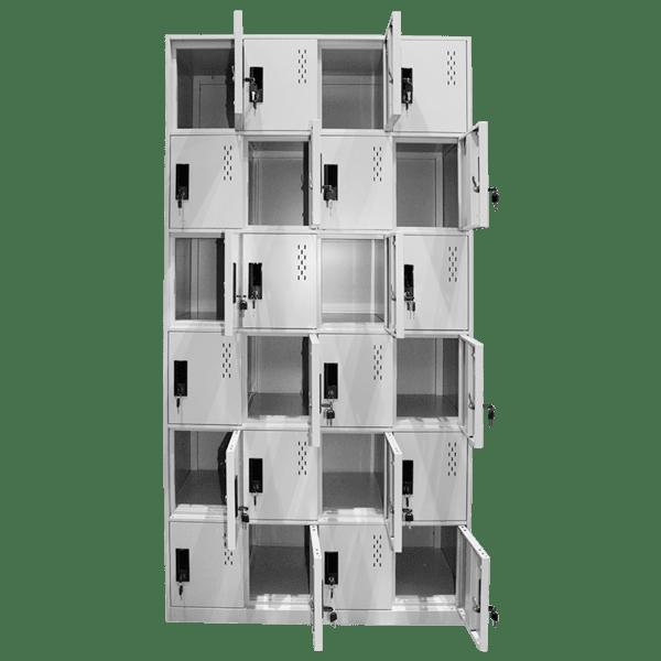 Шкаф метален с 24 отделения