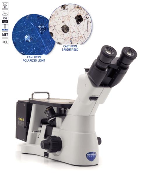 Тринокулярен, металографски микроскоп, модел IМ-3MET, инвертен