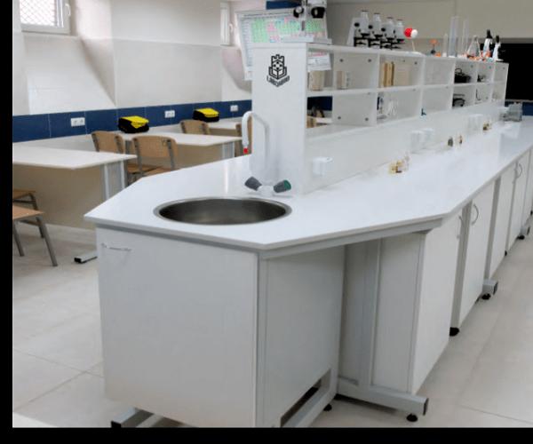 Остров лабораторен М 2700х1500х(900+900)мм