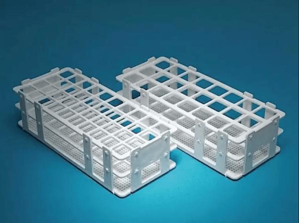 Статив за епруветки пластмасов, 40 гнезда, 20 mm