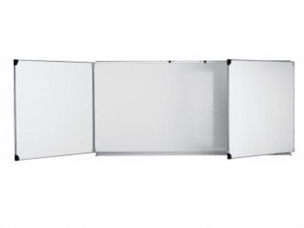 Тройна бяла магнитна дъска, 480 см х 120 см