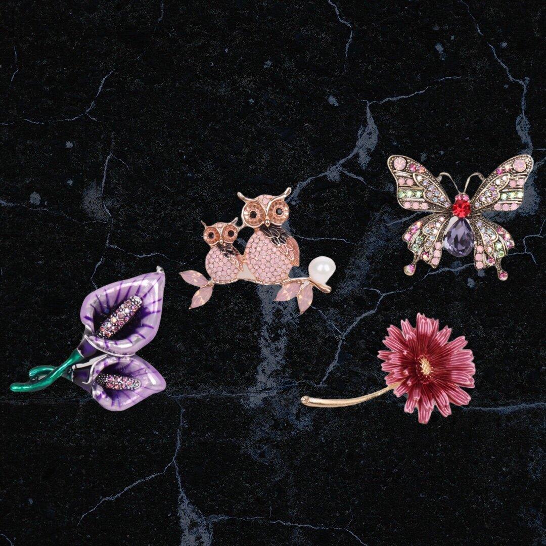 Брошки с кристали