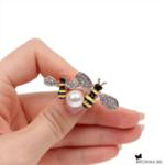 Брошка две пчелички