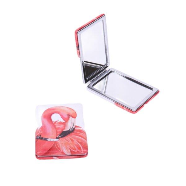 Джобно огледало с фламинго