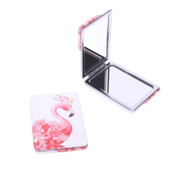 Джобно огледало с красиво фламинго