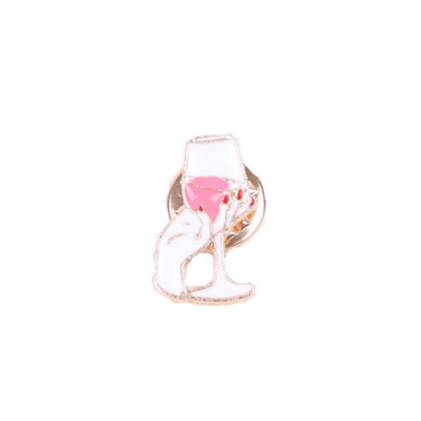 Брошка пинче чаша вино
