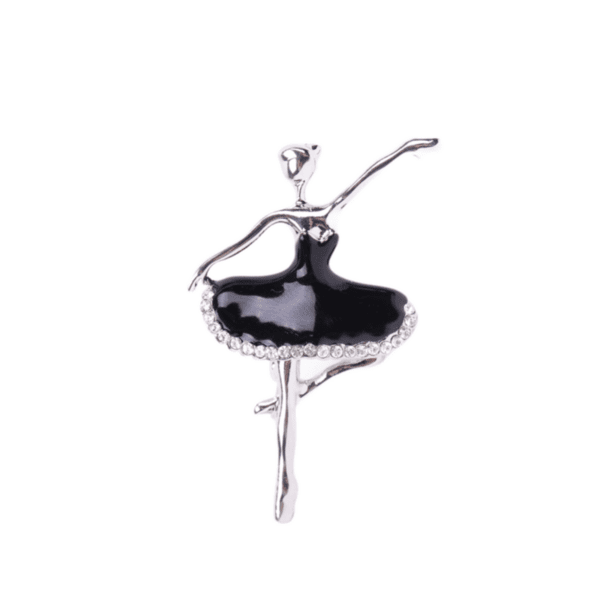 Брошка балерина с черна балетна пачка