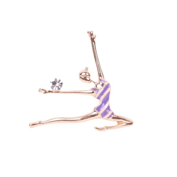 Брошка гимнастичка с топка
