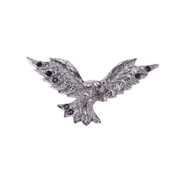 Брошка сребрист орел