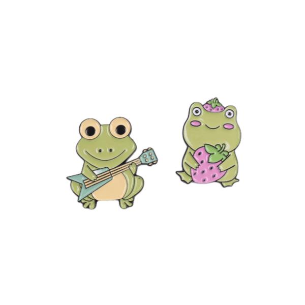 Брошки пинчета жабки Romeo & Juliet