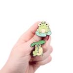 Брошки пинчета жабки