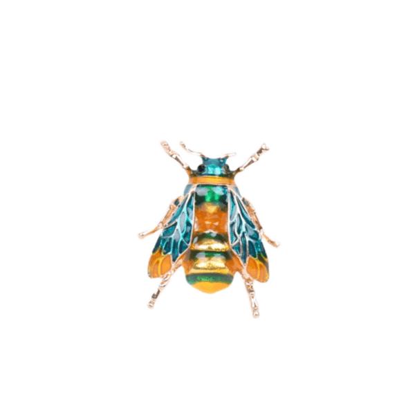 Брошка зелена пчеличка