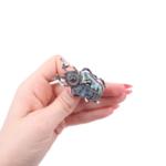 Брошка бръмбар със седеф и кристали