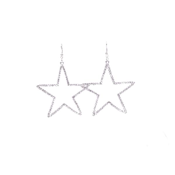 Обеци звезда в сребристо