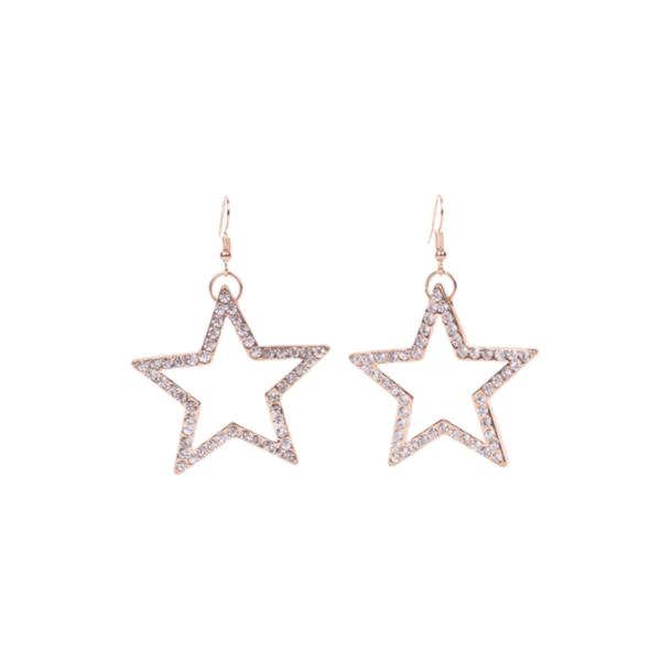 Обеци звезда в златисто
