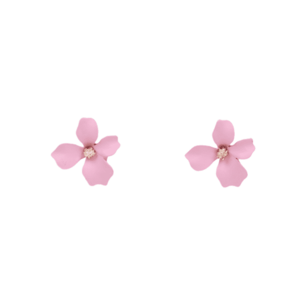 Обеци малки цветя в розово GEORGIA