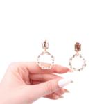 Обеци със златисти кристали ROSA-MARIA