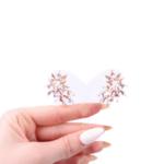 Обеци с розови кристали AZIA