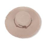Плажна Шапка Декорирана с Пинчета в Цвят Екрю