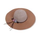Красива двуцветна плажна шапка с цветя 'PALERMO'