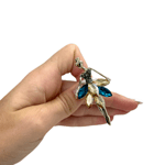 Брошка стилна балерина с цветни кристали