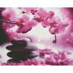 Визуализация на диамантен гоблен Лилави орхидеи