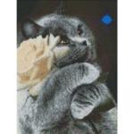 """Диамантен Гоблен """"Трите Котенца"""" - 30 x 40 см, Кръгли мъниста-Copy"""