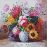 """Диамантен Гоблен """"Рози"""" - 40 x 40 см, Кръгли мъниста-Copy"""